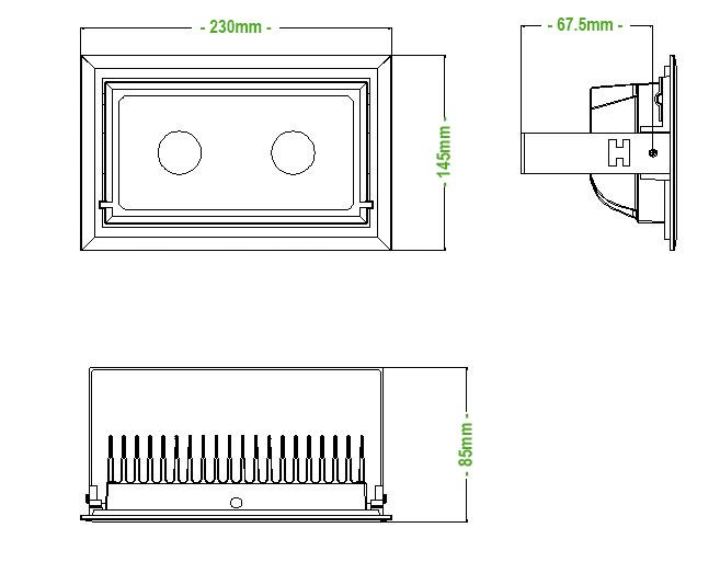 Taille eclairage mur vegetal SPOT 40